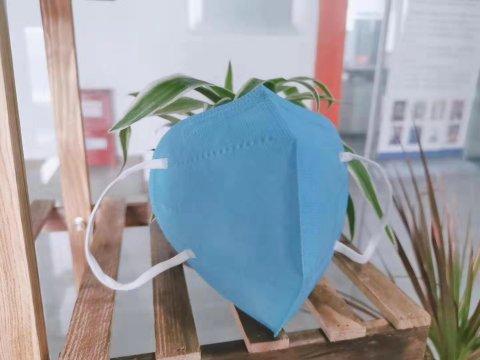 蓝色防尘折叠口罩