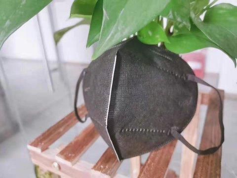 折叠式颗粒防护口罩  黑色