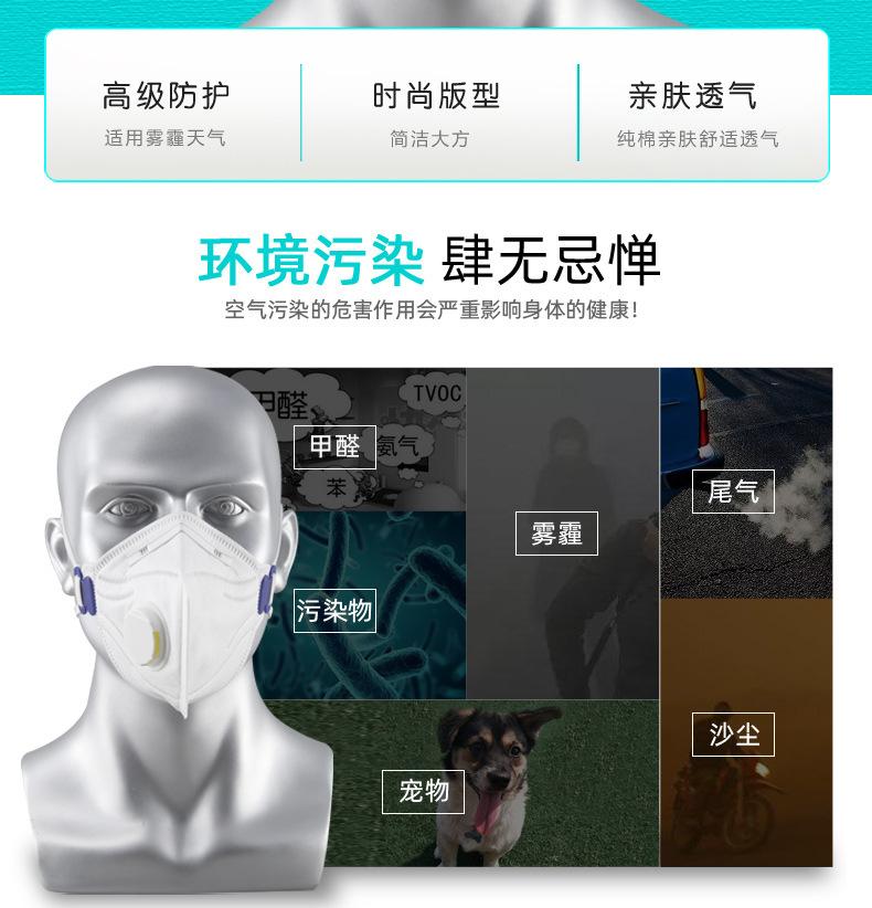 加厚头戴式折叠呼吸阀活性炭劳保防尘透气时尚